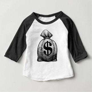 De Zak van de Jute van het Teken van de dollar of Baby T Shirts