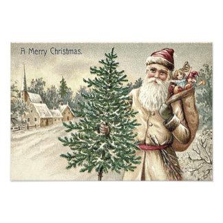 De Zak van de Kerstboom van de Kerstman van de Foto Print