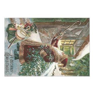 De Zak van de Kerstboom van de Kerstman van het Foto Afdrukken