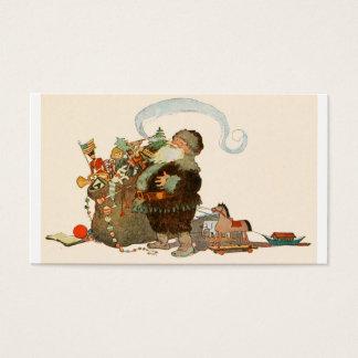 De Zak van de Pijp van de kerstman van Speelgoed Visitekaartjes