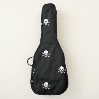 De zak van de schedel en van de gekruiste gitaartas
