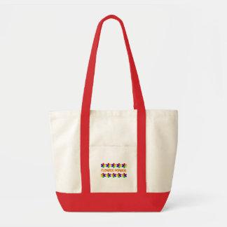 De zak van flower power canvas tassen
