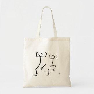 De zak van het bolsa met twee dansers Bhangra Draagtas