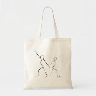 De zak van het bolsa met twee dansers van de Disco Draagtas