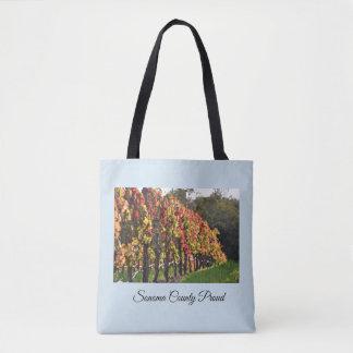De zak van het bolsa, Wijngaarden in Herfst - de Draagtas