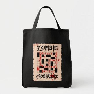 De Zak van het Kruiswoordraadsel van de zombie Boodschappen Draagtas