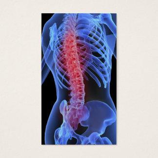 De Zaken Card3 van de chiropracticus Visitekaartjes