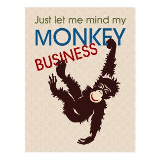 De Zaken van de aap Briefkaart