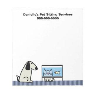 De Zaken van de Babysitter van het huisdier Notitieblok