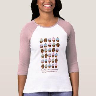 De Zaken van de Bakkerij van de Collage van Cupcak T Shirts