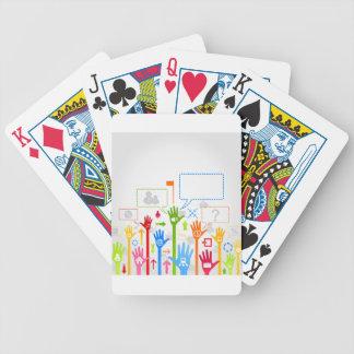 De zaken van de hand pak kaarten