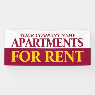 De zaken van de huur aan huursignage banner