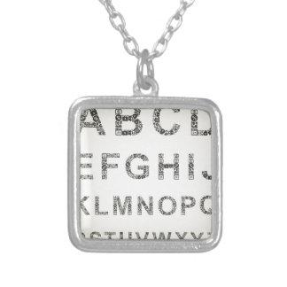 De zaken van het alfabet ketting vierkant hangertje