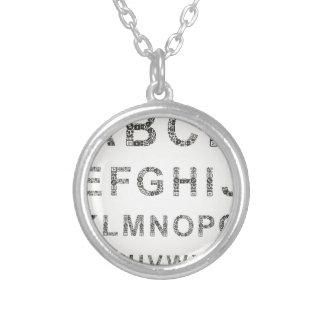 De zaken van het alfabet zilver vergulden ketting