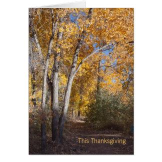 De Zaken van het Bos van de herfst danken u Kaart