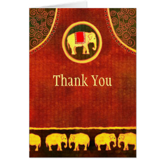 De Zaken van het Koninkrijk van de olifant danken Notitiekaart