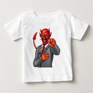 De Zakenman van de Duivel van de cartoon Baby T Shirts