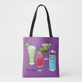 De zakken van de de douanenaam van de Cocktails Draagtas