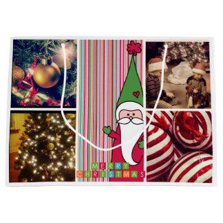 De Zakken van de Gift van de Foto van Kerstmis van Groot Cadeauzakje