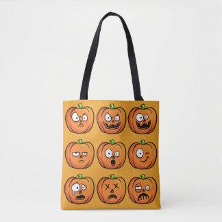 De zakken van de Pompoenen van Halloween Draagtas
