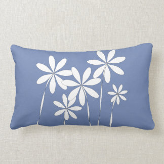 De Zaligheid van de bloem op Blauw Lumbar Kussen