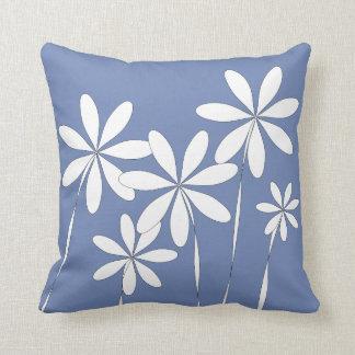 De Zaligheid van de bloem op Blauw Sierkussen