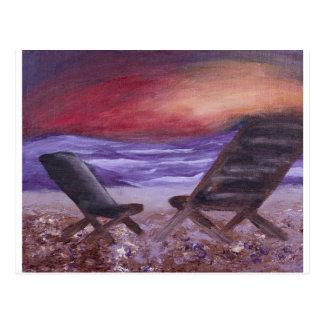 De Zaligheid van de zonsondergang Briefkaart
