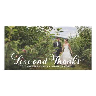 De Zaligheid van Wedded | Huwelijk dankt u de Persoonlijke Fotokaart