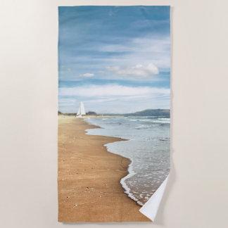 De zandige Handdoek van het Strand