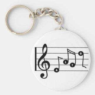 De Zanger Muzikale Keychain van de alt Sleutelhanger