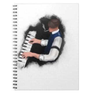 De Zanger van de piano Ringband Notitie Boek
