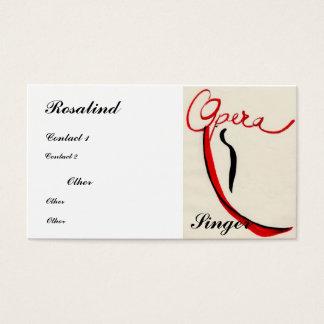 De zangerVisitekaartje van de opera Visitekaartjes