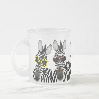 De zebra Berijpte 10oz Berijpte Mok van het Glas