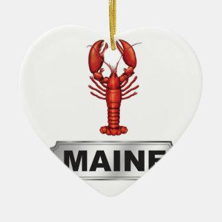 De zeekreeft van Maine Keramisch Hart Ornament
