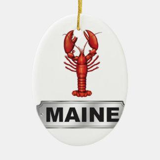 De zeekreeft van Maine Keramisch Ovaal Ornament