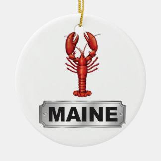 De zeekreeft van Maine Rond Keramisch Ornament