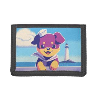 De Zeeman van de Hond van het Zee van het Puppy Drievoud Portemonnee