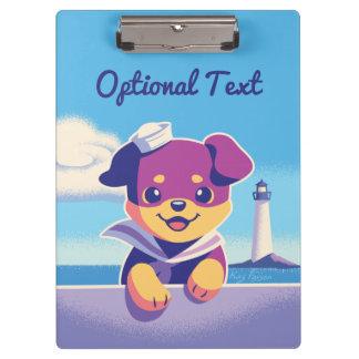 De Zeeman van de Hond van het Zee van het Puppy Klembord