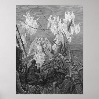 De zeeman ziet de band van engelachtige geesten poster
