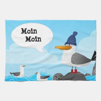 """De Zeemeeuw van """"Moin Moin"""" Theedoek"""