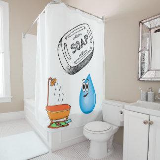 De zeep van het gordijnkinderen van de douche douchegordijn