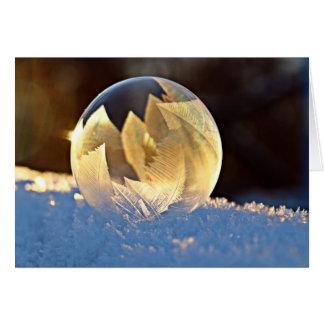 De Zeepbel van de Sneeuw van de winter met binnen Kaart