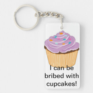 De zeer belangrijke ketting van Cupcake 2-Zijden Rechthoekige Acryl Sleutelhanger