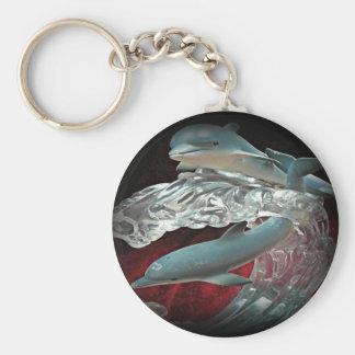 De Zeer belangrijke Ketting van de dolfijn Basic Ronde Button Sleutelhanger