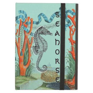 De zeer Oude Scène van het Strand Seahorse iPad Air Hoesje