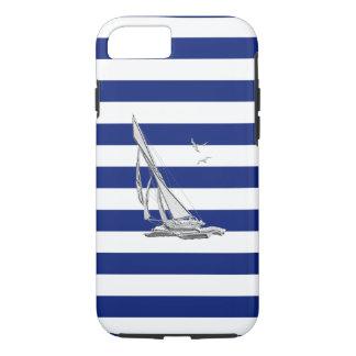 De zeevaart Boot van het Zeil van het Chroom op de iPhone 7 Hoesje