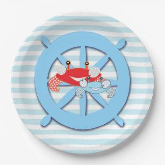De zeevaart Borden van het Baby shower van de Papieren Bordje