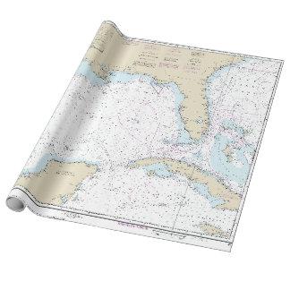 De zeevaart Golf van Florida van de Grafiek van de Cadeaupapier