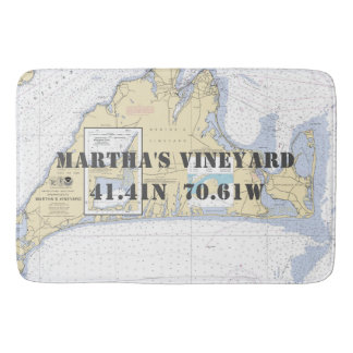 De zeevaart Grafiek van het Martha's Vineyard Badmat