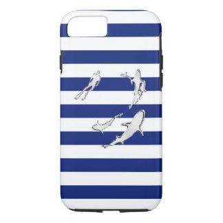 De zeevaart Haaien van het Chroom op de Druk van iPhone 7 Hoesje